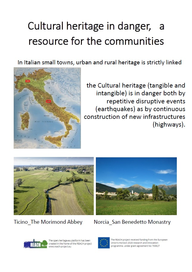 Cultural heritage in danger, a resource for the communities
