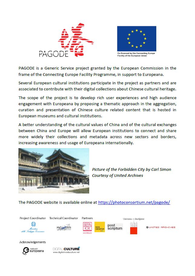 PAGODE – Europeana China