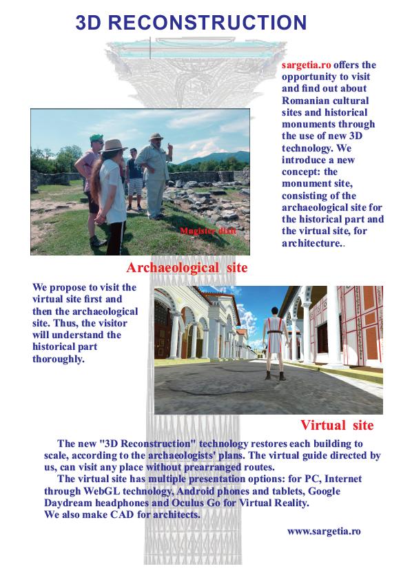 Sargetia -3D reconstruction of the capital Ulpia Traiana Sarmizegetusa