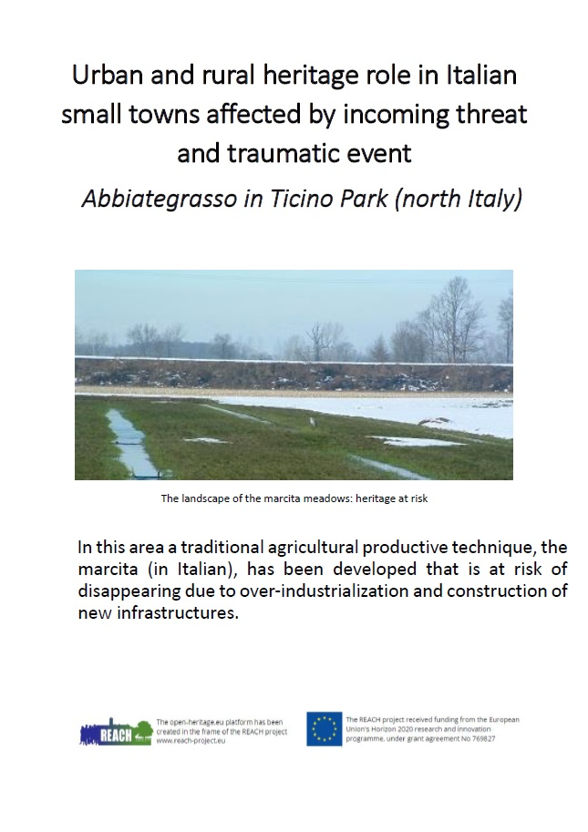 Urban and rural heritage role in Italian small towns affected by incoming threat and traumatic event