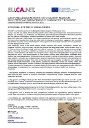 A proposal for the EU Urban Agenda