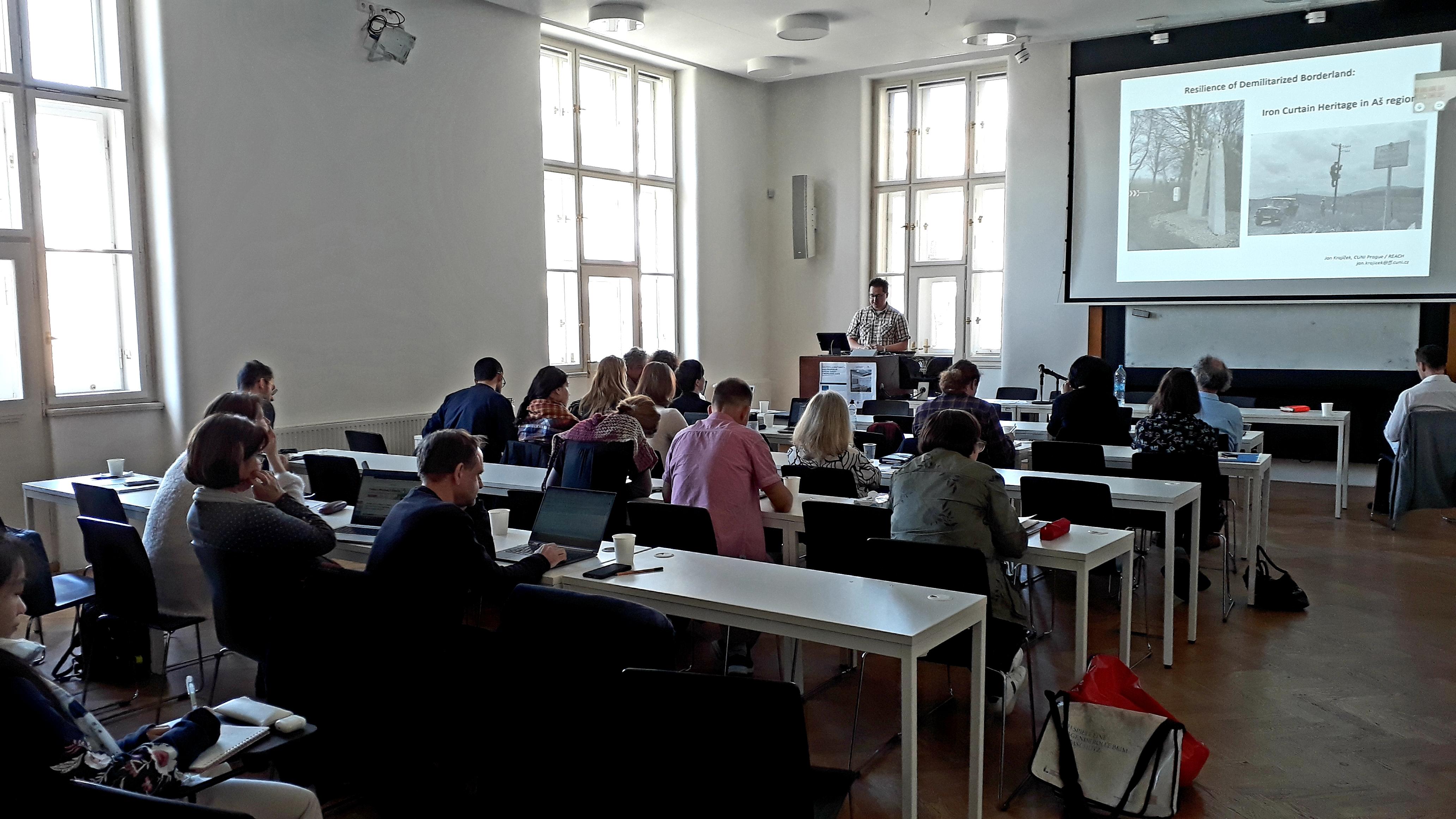 "20200305 PhDr. Jan Krajíček, REACH, Charles University, – ""Resilience of de-militarized borderland: Iron Curtain heritage in Aš region"" (Czech Republic)"