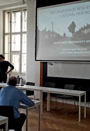 Oláh Gábor presenting REACH Minority Heritage pilot